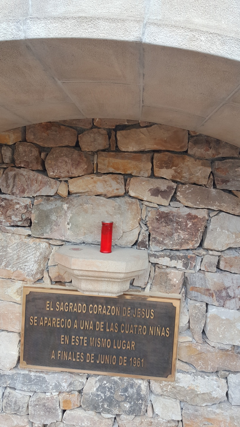 The Sacred Heart of Jesus appeared to one of the four girls at this place at the end of June 1961