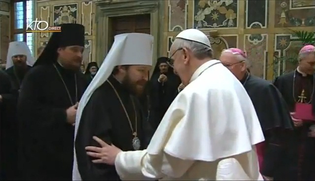 Hilarion and Pope Francis