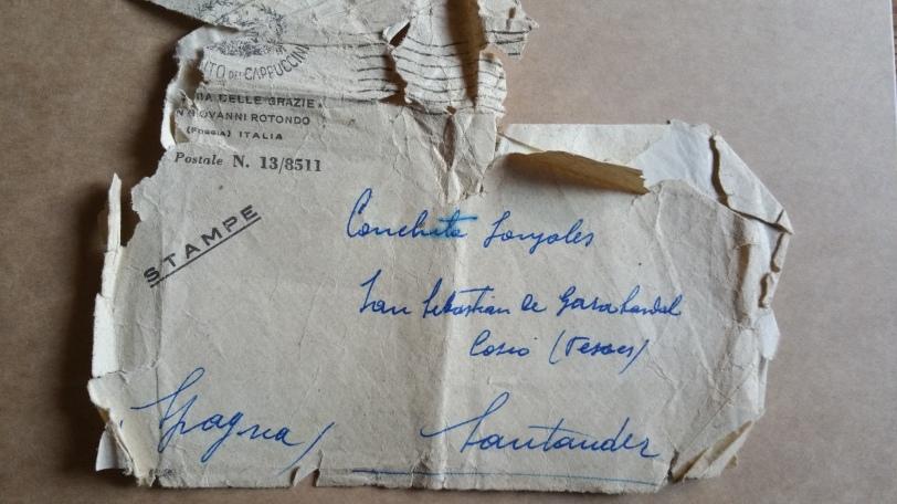P. Pio's letter envelope.jpg
