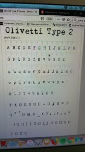 Olivetti font