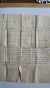 P. Pio original letter 1962